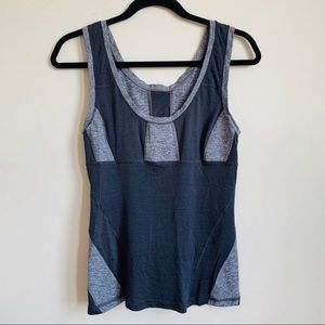 EUC Lululemon two-tone gray workout tank